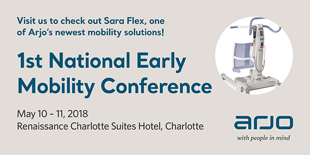 arjo news events SPH 2018 early mobility conference